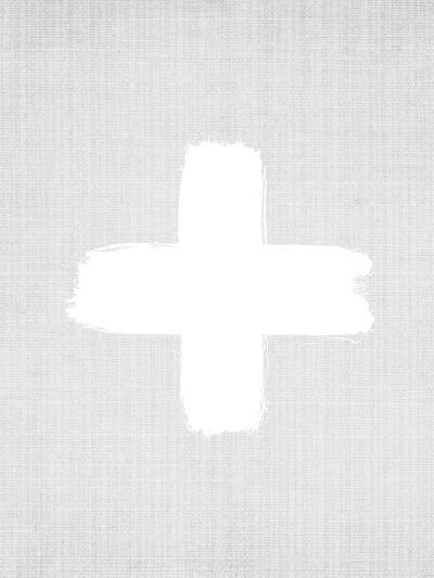 Cross On Grey-LILA X LOLA-Art Print
