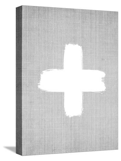 Cross On Grey-LILA X LOLA-Stretched Canvas Print