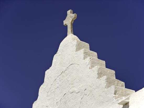 Cross on Top of Gable-Danny Lehman-Photographic Print