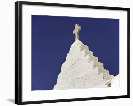 Cross on Top of Gable-Danny Lehman-Framed Photographic Print