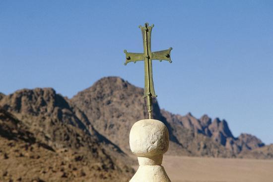 Cross on Top of Saint Catherine's Monastery, Sinai, Egypt, 6th Century--Photographic Print