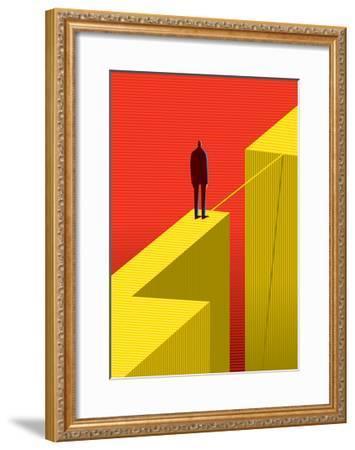 Cross Other Side-bbay-Framed Art Print