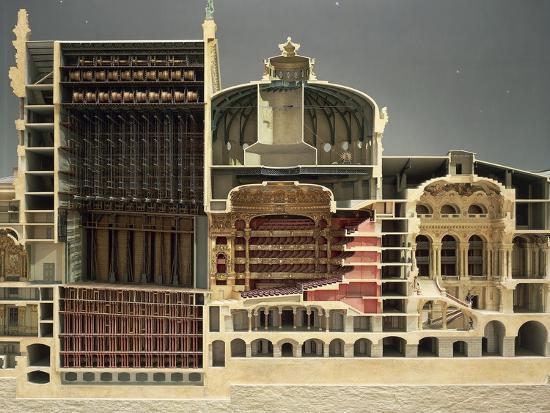 Cross Section of Paris Opera, 1862-1875-Charles Gounod-Giclee Print