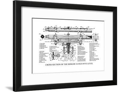 Cross-Section of the Berger 18 Inch Wye Level--Framed Art Print
