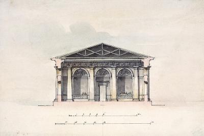 Cross-Section View of the Riding Stables at Tsarskoye Selo, 1792-Giacomo Quarenghi-Giclee Print