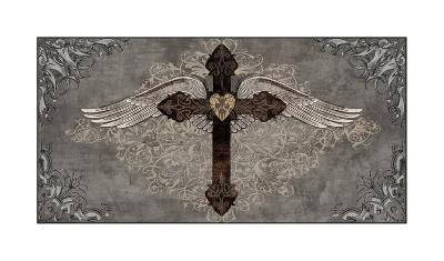 Cross with Wings-Brandon Glover-Giclee Print