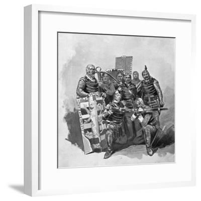 Crossbowmen and Archers from Malatesta, Sketch for Francesca Da Rimini-Gabriele D'Annunzio-Framed Giclee Print