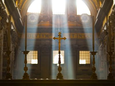 Crosses on Altar in St Peter's Basilica-Richard l'Anson-Photographic Print