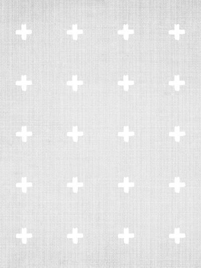 Crosses On Grey-LILA X LOLA-Art Print
