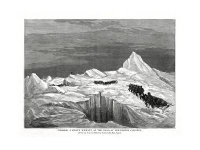 Crossing a Heavy Ice-Pack at the Head of Wellington Channel, 1877-Commander May-Giclee Print