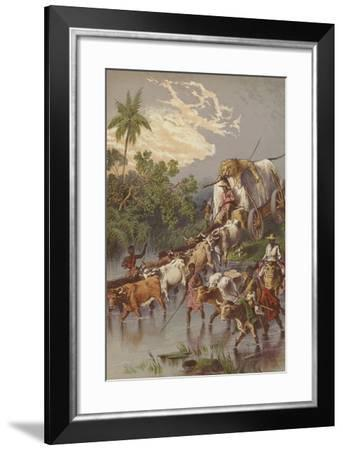 Crossing a Stream in South Africa--Framed Giclee Print