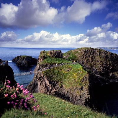 Crossing Carrick-A-Rede Rope Bridge on the North Antrim Coast-Chris Hill-Photographic Print