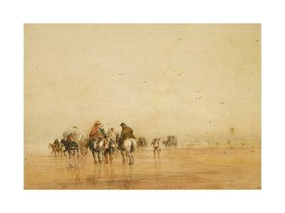 Crossing Lancaster Sands, 1836-David Cox-Giclee Print