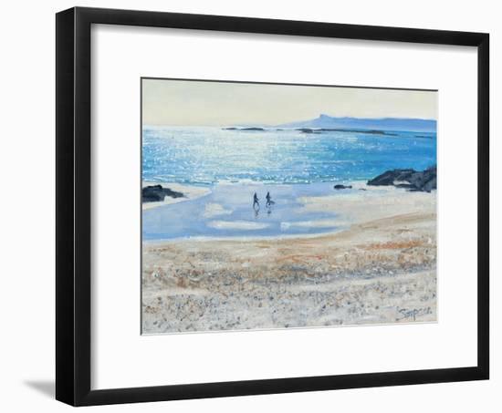 Crossing the Beach, 2014-Charles Simpson-Framed Giclee Print