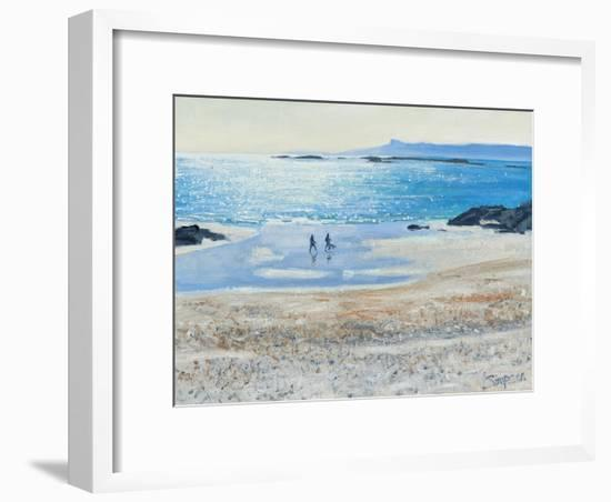 Crossing the Beach, 2014-Charles Simpson-Framed Giclee Print