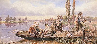 Crossing the Ferry-Myles Birkett Foster-Premium Giclee Print