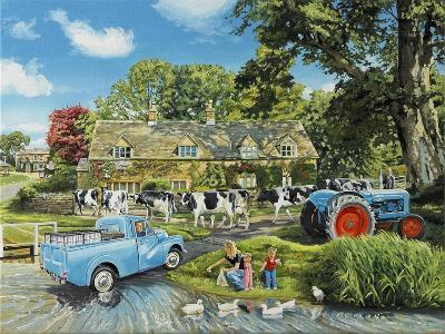 Crossing the Ford-Trevor Mitchell-Giclee Print