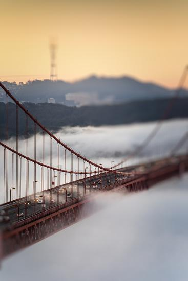 Crossing The Gate Morning Fog Golden Gate Bridge, San Francisco California Travel-Vincent James-Photographic Print