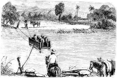 Crossing the Isabella, Santo Domingo, 1873--Giclee Print