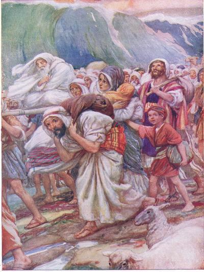 Crossing the Red Sea-Arthur A^ Dixon-Giclee Print