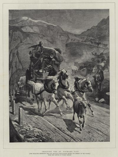 Crossing the St Gothard Pass-Rudolf Johann Koller-Giclee Print