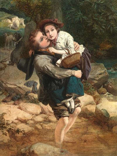 Crossing the Stream-William A. Atkinson-Giclee Print