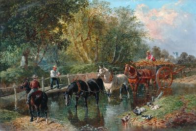 Crossing the Stream-John Frederick Herring Jnr-Giclee Print