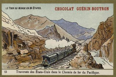 Crossing the United States on the Pacific Railroad--Giclee Print