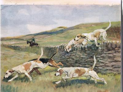 Crossing the Wall, Illustration from 'Hounds'-Thomas Ivester Lloyd-Giclee Print