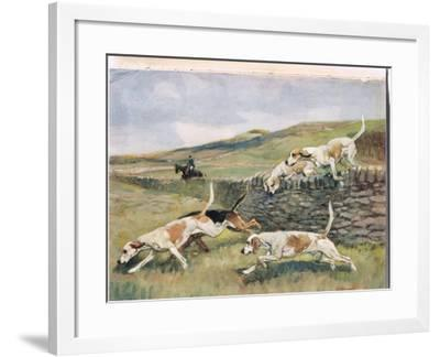 Crossing the Wall, Illustration from 'Hounds'-Thomas Ivester Lloyd-Framed Giclee Print