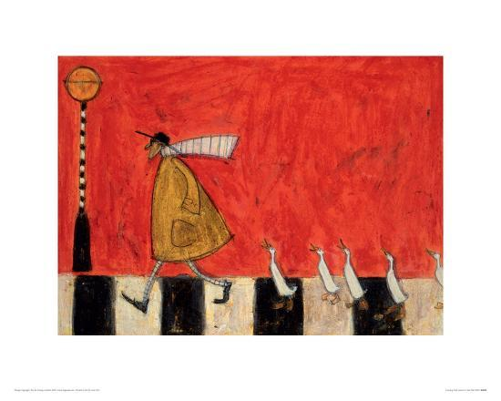 Crossing With Ducks-Sam Toft-Giclee Print