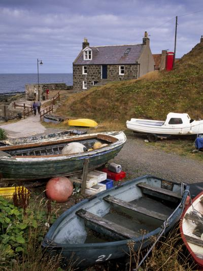 Crovie, Tiny Fishing Village, North Coast, Aberdeenshire, Scotland, United Kingdom, Europe-Patrick Dieudonne-Photographic Print