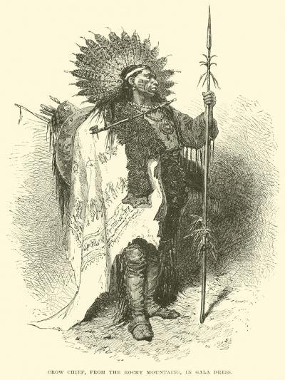Crow Chief, from the Rocky Mountains, in Gala Dress--Giclee Print