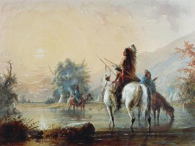 Crow Encampment, 1837-Alfred Jacob Miller-Giclee Print