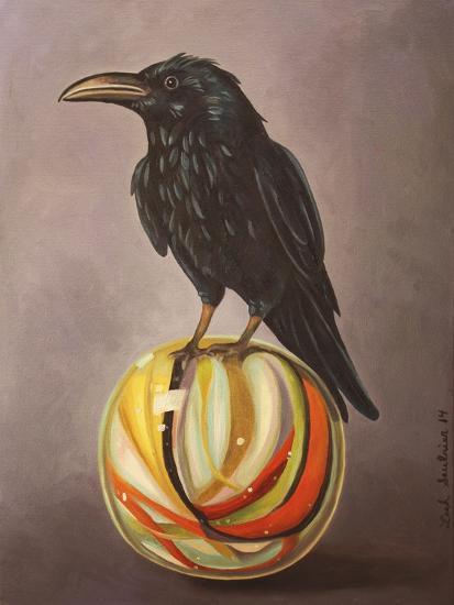 Crow on a Marble-Leah Saulnier-Giclee Print