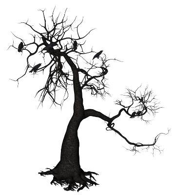 Crow Tree-artshock-Art Print