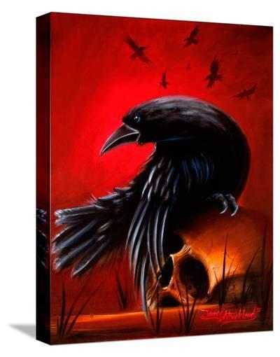 Crow-James Strickland-Stretched Canvas Print