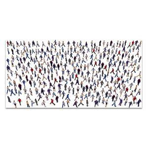 Crowd - Free Floating Tempered Glass Panel Graphic Wall Art
