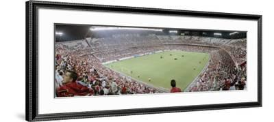 Crowd in a Stadium, Sevilla FC, Estadio Ramon Sanchez Pizjuan, Seville, Seville Province, Andalucia--Framed Photographic Print