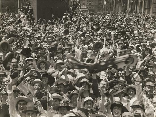 Crowd in Martin Place--Giclee Print