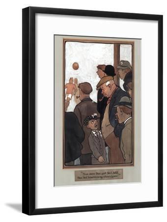 Crowd Scene, Signed by G.J.--Framed Giclee Print