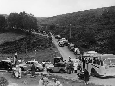 Crowded Road at Dartmeet, Devon, C1951--Photographic Print