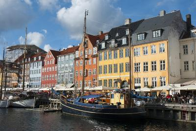 Crowds at Cafes and Restaurants, Nyhavn, Copenhagen, Denmark-Inger Hogstrom-Photographic Print