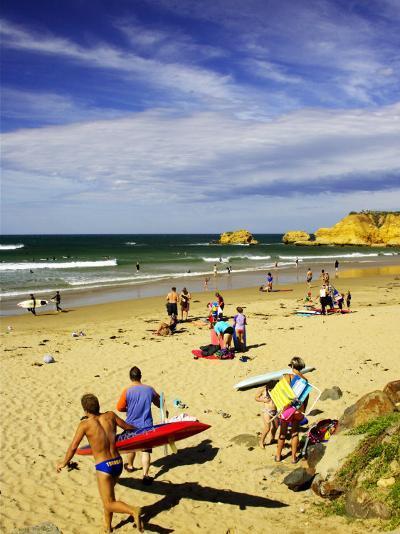 Crowds at the Beach, Torquay, Great Ocean Road, Victoria, Australia-David Wall-Photographic Print