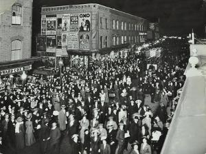 Crowds of Shoppers in Rye Lane at Night, Peckham, London, 1913