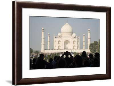 Crowds of Tourists at the Taj Mahal, Agra, India-Michael Melford-Framed Photographic Print