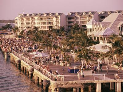 Crowds Viewing Sunset, Key West, Florida, USA-Ken Gillham-Photographic Print