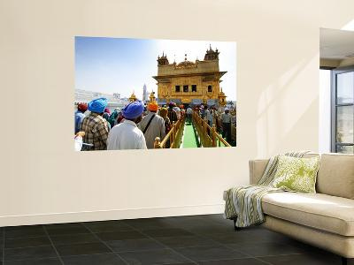 Crowds Waiting to Enter Golden Temple-Michael Gebicki-Wall Mural