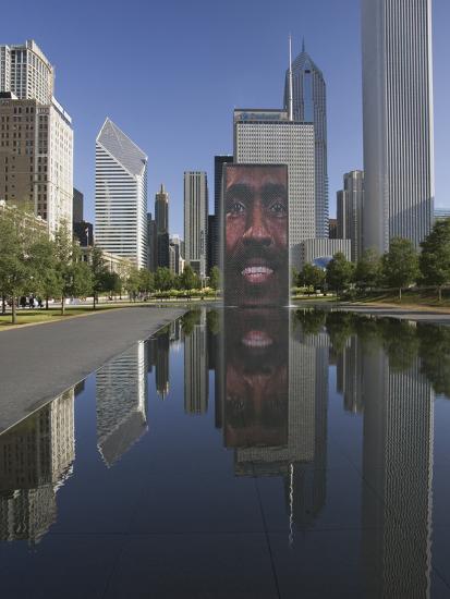 Crown Fountain, Millennium Park, Chicago, Illinois, Designed by Jaume Plensa-Adam Jones-Photographic Print