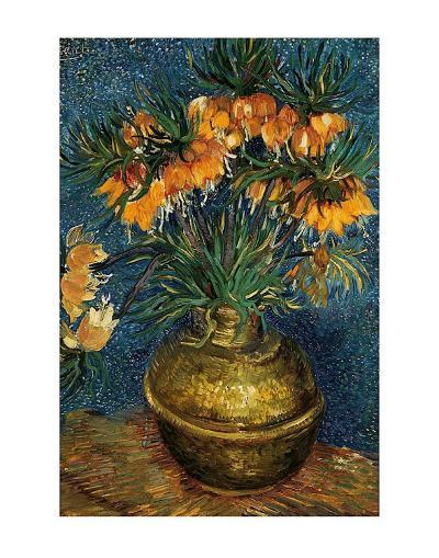 Crown Imperial Fritillaries in a Copper Vase, c.1886-Vincent van Gogh-Art Print